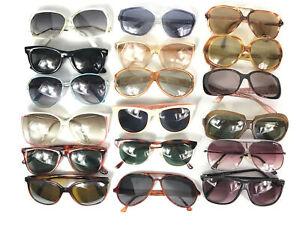 18 Pairs Bundle Vintage Fashion Sunglasses Ladies Womens Sun Shades Job Lot