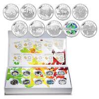 2014 Canada 10-Coin 1/2 oz Silver O'Canada Set