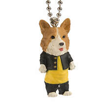Dogs in School Uniforms Welsh Corgi Keychain
