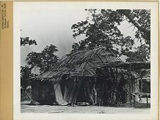 Kickapoo Indian bark house, Native American Indian 1940's