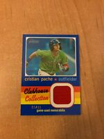 2020 Topps Heritage Minor League - Cristian Pache Blue Clubhouse Relic #d 91/99