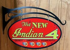 NEW Indian Motorcycle Double sided oval with hanger tin metal sign