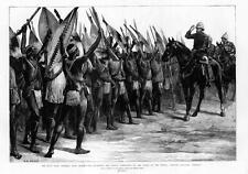 1879 la Guerra Zulu-Lord Chelmsford revisar soldados nativos Tugela (237)