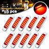 10 pcs Red Side Marker Lights Clearance 12 LED Truck Trailer For Peterbilt 12V