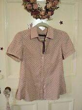 Sportscraft Short Sleeve Button Down Shirt 100% Cotton Tops & Blouses for Women