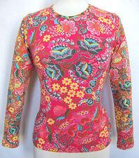 Geblümte Figurbetonte Hüftlang Damenblusen,-Tops & -Shirts mit Baumwollmischung