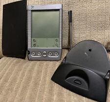 Handspring Platinum Visor Palm Pilot With Dock And Hard Cover