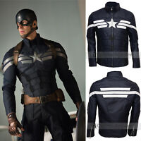 Captain America Avengers Endgame Mens Leather Jacket Cosplay Costume