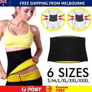 Hot Fit Body Shaper Slimming Belt Waist Trainer Tummy Trimmer Sweat Fat Burn AU