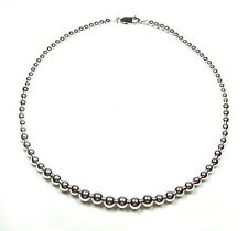 "Graduated Sterling Silver Bead Necklace (Plus 18"")"