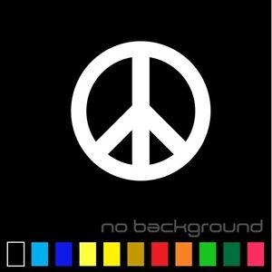 Peace Sign Sticker Vinyl Decal - Love Symbol Car Window Bumper Hippie