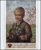 Künstlerkarte des Deutschen Schulvereins Nr. 146 Kind Junge in Tracht alte AK