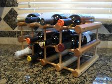 10 or 12 – Bottle Wood Wine Rack Kitchen Organizer