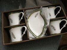 """Coffret Tasses & sous-tasses Luxe Porcelaine style """"Art Déco"""""""