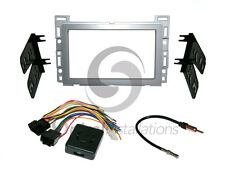 Radio Stereo Installation Dash Kit Combo DD SILVER + Wire Harness + Antenna CH4