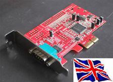 Serial RS232 x1 PCIe Tarjeta Pci Express 1S Bajo Perfil Lp