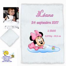 plaid couverture bébé personnalisé cadeau naissance prenom texte choix réf 06