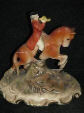 +# A013653_02 Goebel Archiv Muster Rokoko Reiter auf Pferd mit Hirsch GM1 Krone