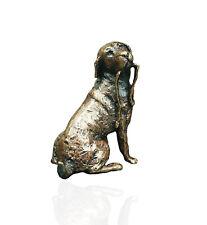 Labrador Dog With Lead  Bronze Miniature Sculpture - Butler & Peach 2019