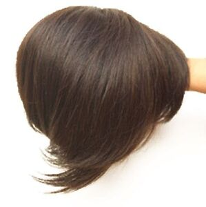 """6"""" Wavy /straight Human Hair Topper Clip in Hair Top Piece Bangs Extensions"""