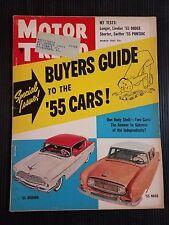 Motor Trend March 1955 Studebaker - Nash - Oldsmobile 88 - Chrysler New Yorker