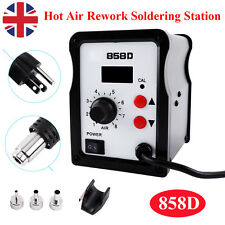 Hot Air Soldering Rework Station Solder Iron Handle Stand with 3 Nozzles 220V UK