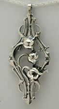 LANGUAGE OF FLOWERS Sterling Silver Lily of the Valley Pendant: Grand Lily
