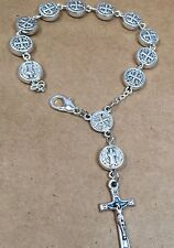 ST.BENEDICT rosary bracelet made of Benedict medallions assembled in POLAND
