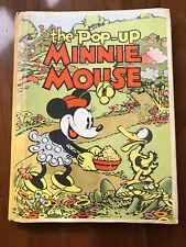 The Pop-up Minnie Mouse, Walt Disney - 1933 - Vintage Hardcover Book - Rare