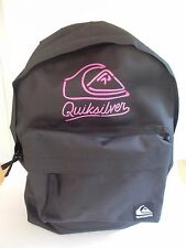 Quiksilver Rucksack Black / Pink Gym School Work Holiday