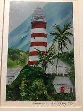 Signed Light House print by Anne W Ray '96