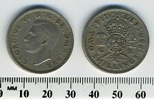 Great Britain 1950 - 1 Florin (2 Shillings) Copper-Nickel Coin - King George VI