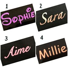 Premium Quality Vinyl Personalised Name Text Glitter Iron On Hot fix Transfer