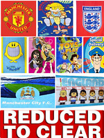 REDUCED TO CLEAR Childrens Kids Character Football 70 x 140cm Cotton Beach Towel