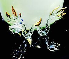 Great Naga Dragon Glass Figurine Gold Serpent Animal Craft Collectible Gifts
