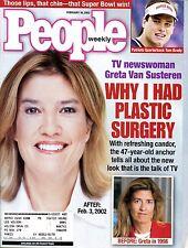 People Mag Feb 18, 2002 TV newswoman Greta Van Susteren has Plastic Surgery