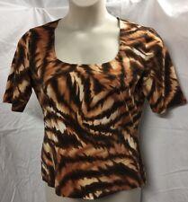 Gorgeous,  Escada, Tiger print, Knit Top,  Size XL