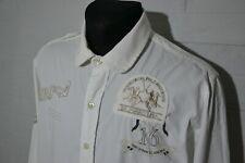 Men's LA MARTINA Long Sleeve White Shirt Size XL