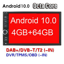 Android 10.0 Double 2DIN Car GPS Stereo Sat Nav Stereo DAB+ OBD DTV-IN WiFi BT