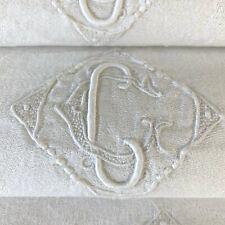 Set of 6 Holiday Napkins Antique French Trousseau CC  Monogrammed Linens Damask