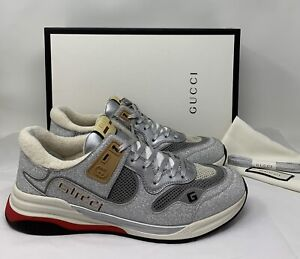 GUCCI Men's Ultrapace sneaker Low Top Glitter Reflective AUTHENTIC ❤️ 11 G US 12