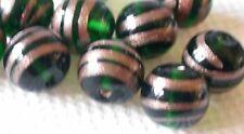 Best amd Beautiful  Vintage West German emerald green beads, Lot of 15