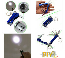 DIY Crafts®Folding LED Flashlight Multifunction Utility Knife Wire Cutter Bottlw