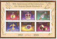 JERSEY MNH UMM STAMP SHEET 2003 SG MS1105 Coronation QEII 50th Anniversary