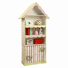 Crackled Rose Childrens Wooden Bookcase Kids Bedroom Furniture Fantasy Fields