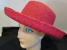 Scala Collection Colorful Straw Hat  Rolled Wide Brim Designer Hat