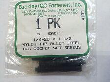 """1/4-20 x 1-1/2"""" Alloy nylon tip socket set screws Qty 1250"""