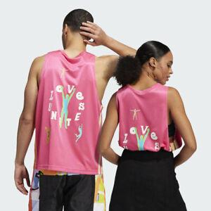Adidas Pride Badge Of Sport Love Unites Basketball Jersey Pink Unisex H56743