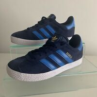 Adidas Gazelle UK Size 1 Children's Blue Suede Adidas Trainers Great Condition!