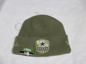 """DALLAS COWBOYS (NEW ERA) """"SALUTE TO SERVICE"""" WINTER BEANIE HAT (ADULT) NWT $30"""